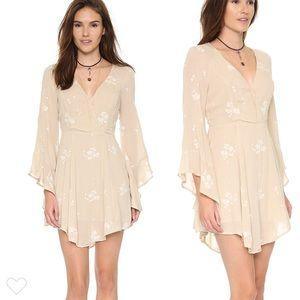 NWOT Free People Jasmine Embroidered Dress